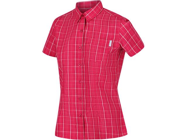 Regatta Mindano V T-Shirt Women neon pink check